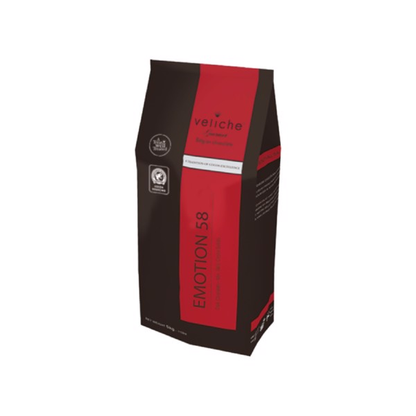 Cocoa Taste Dark Chocolate Emotion 58% Veliche - 5 Kg Bag
