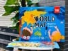 World map magnetic stickers