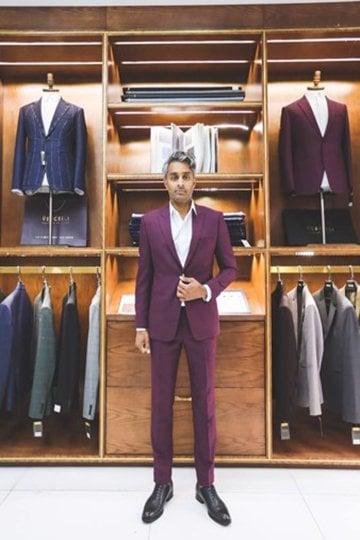 Suit Tím Cẩm Quý ông lịch lãm D62.029