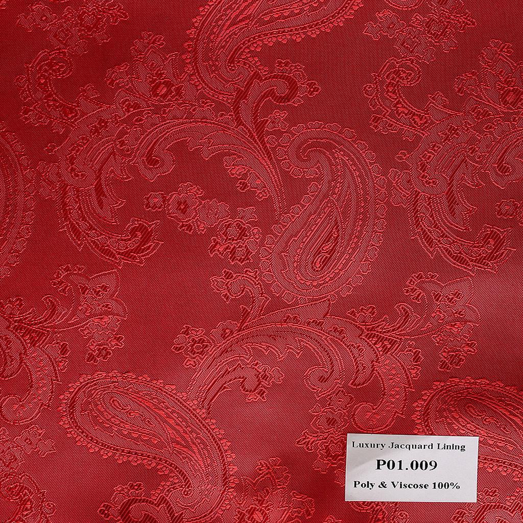 Khăn Pocket Square Hoa Vân Đỏ Tươi  P01.009
