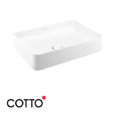 Chậu Lavabo COTTO C003427 Đặt Bàn Sensation Rectangle