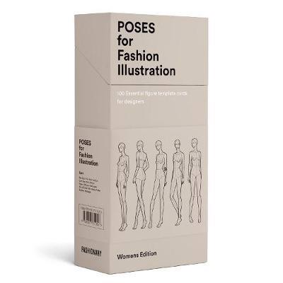 Poses for Fashion Illustration (Card Box) : 100 essential figure template cards for designers_ Fashionary International Limited_9789887711056_Author  FASHIONARY