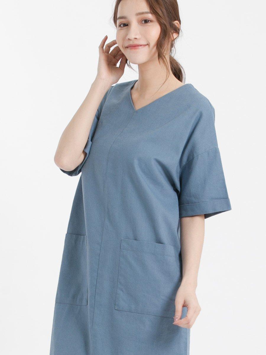 Đầm nữ suông 2 túi trước 3017112140752