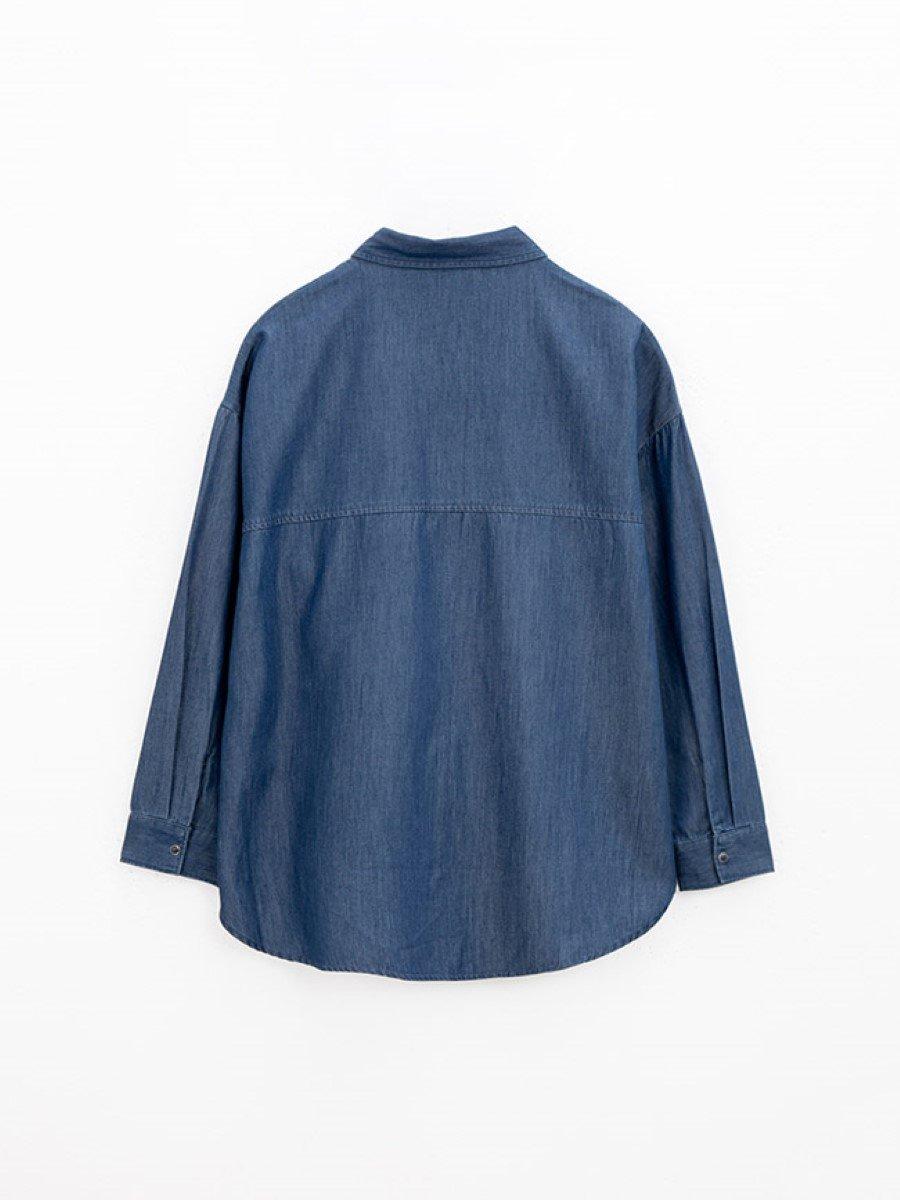 Áo sơ mi nữ 2 túi, vạt bầu 3021112020610