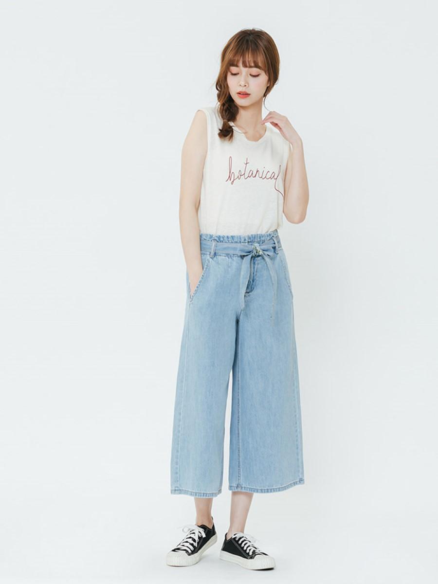 Quần jeans nữ ống rộng 3022315509810