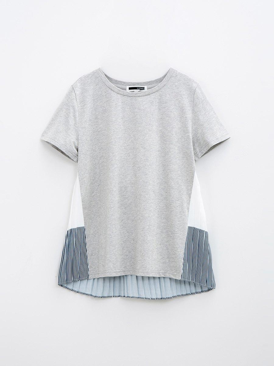Áo thun nữ tay ngắn, vạt áo sau xếp ly 3022413190152