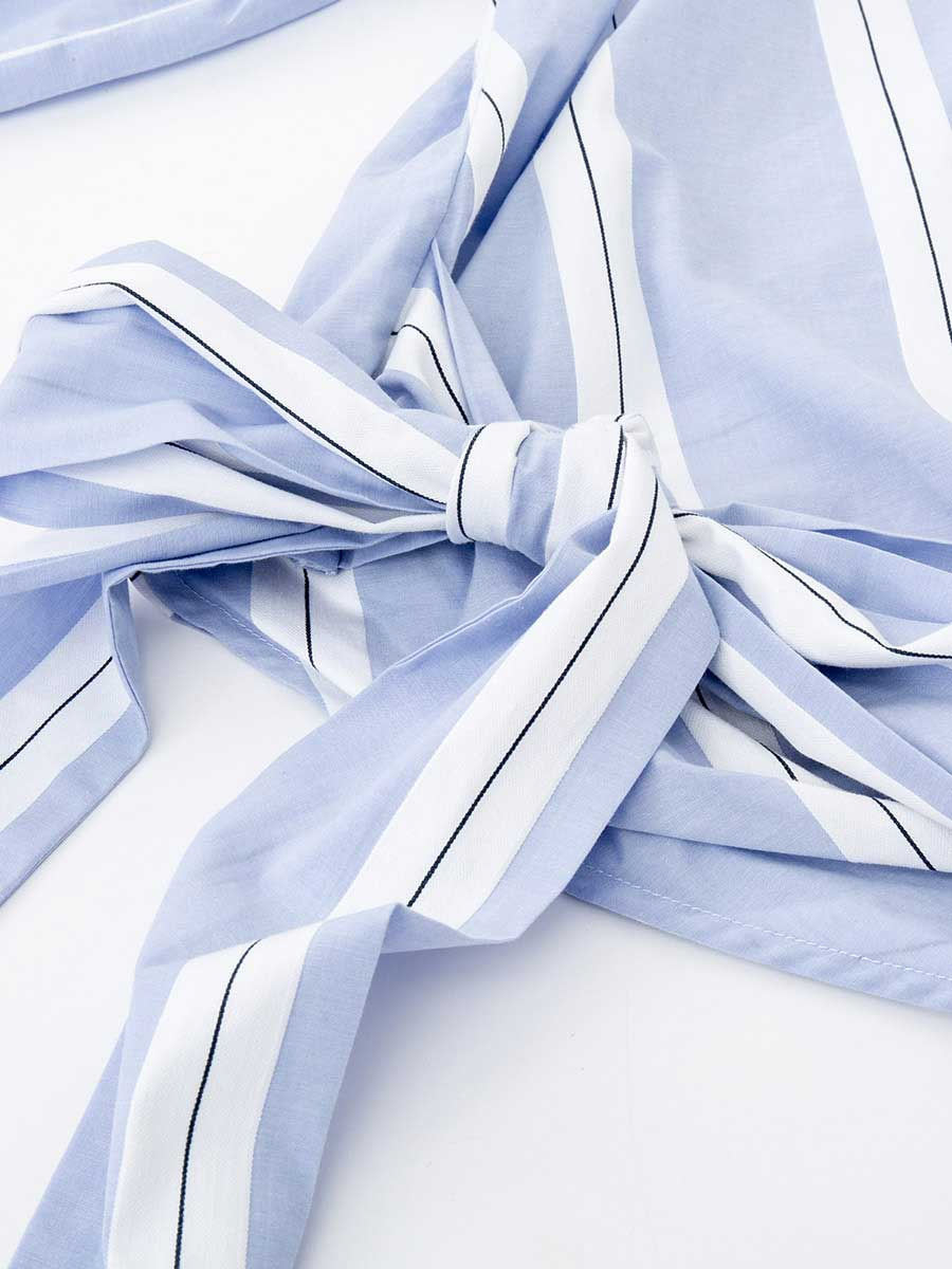 Áo kiểu nữ thắt nơ eo, tay loe lỡ 3022512071152