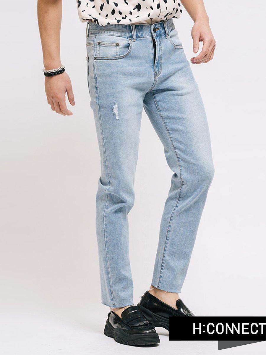 Quần jeans nam wash nhẹ 3027005540610