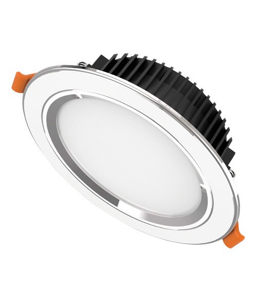 Downlight viền bạc 1 màu Sunhouse SHE-DL01-1/9w-VB