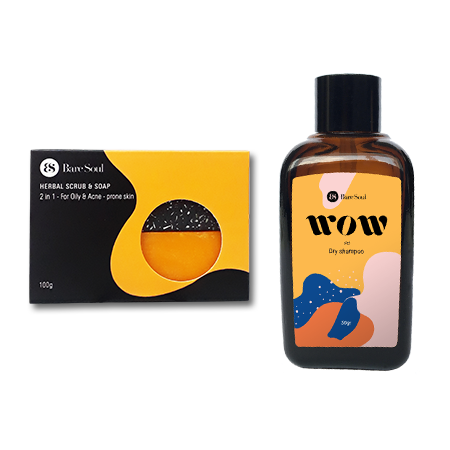 Combo Herbal Scrub & Soap + Wow Dry Shampoo