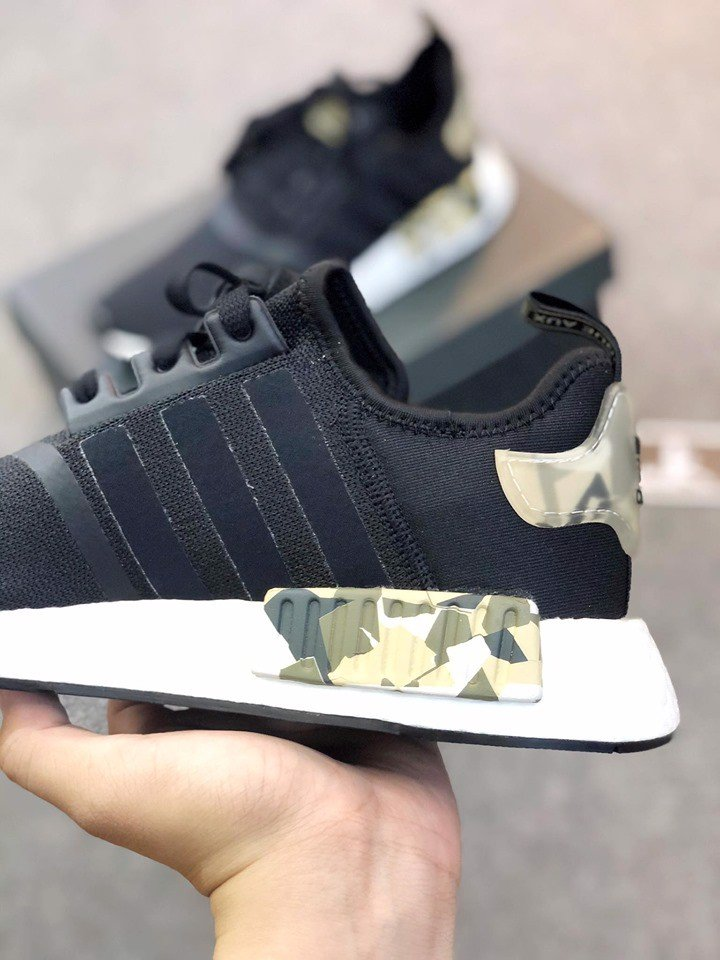 FW6417 - NMD R1 Black and Camo