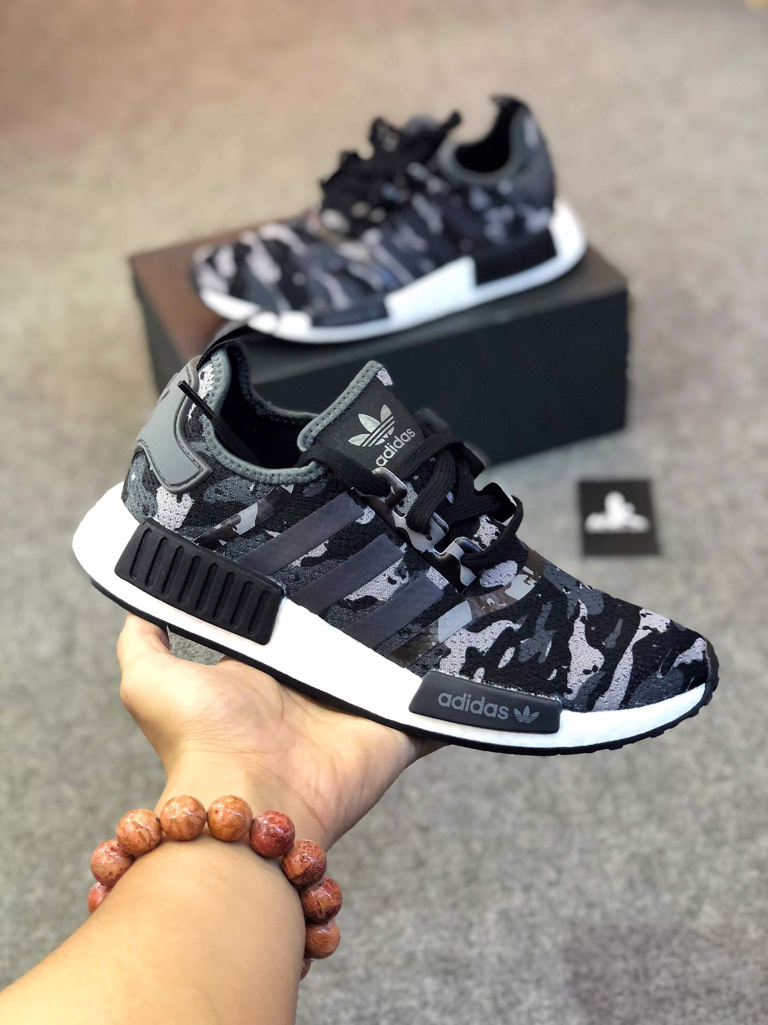 FZ0077 NMD R1 Camo Grey Black