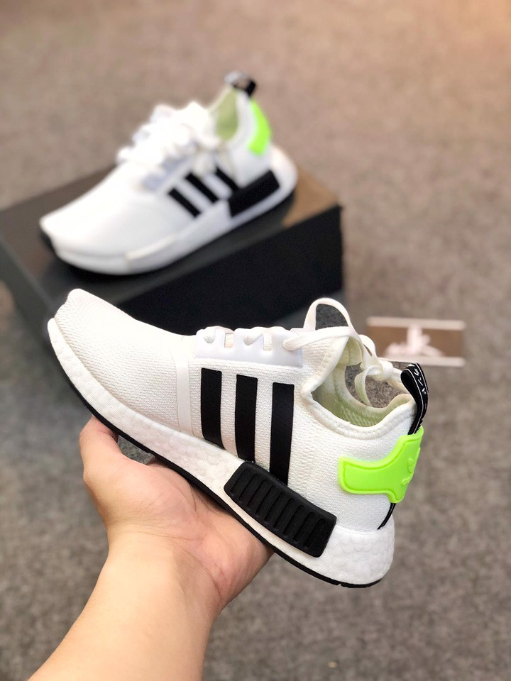 FW2699 - NMD R1 J 'White Black Signal Green'
