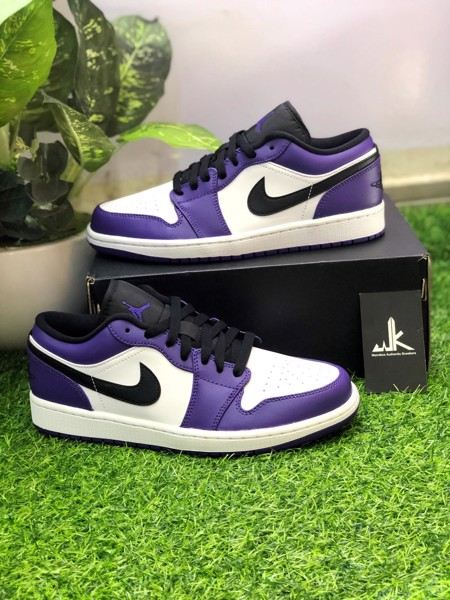 553558-500 Jordan 1 Low Court Purple