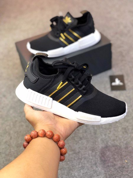 FW6433 NMD R1 Black Gold Metallic