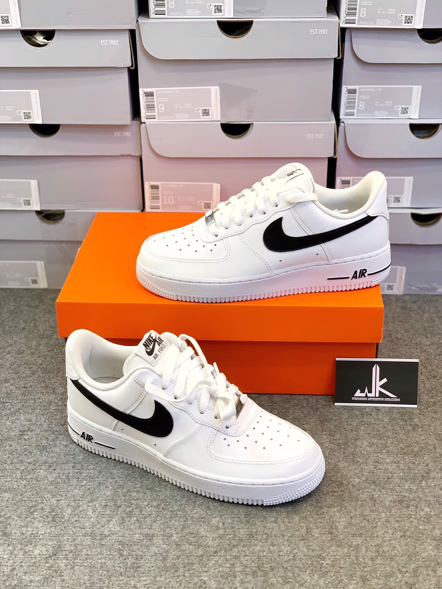 Nike Air Force 1 Low All White BLCK Swoosh