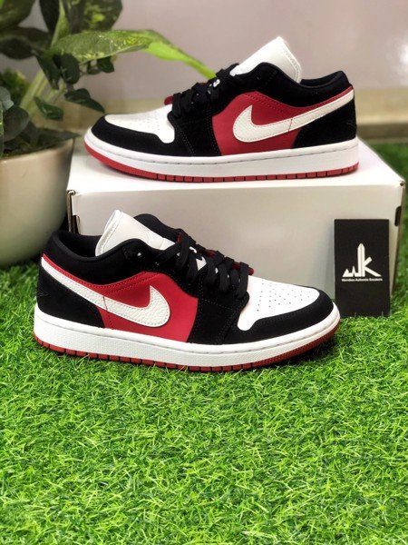 DC0774-016 Jordan 1 Low Black White Gym Red