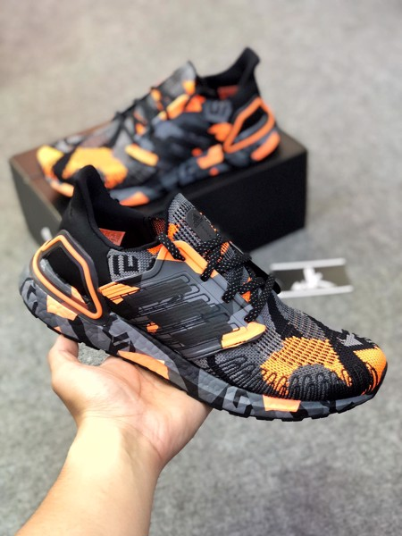 FV8330 - UltraBoost 20 Geometric Pack - Black Signal Orange