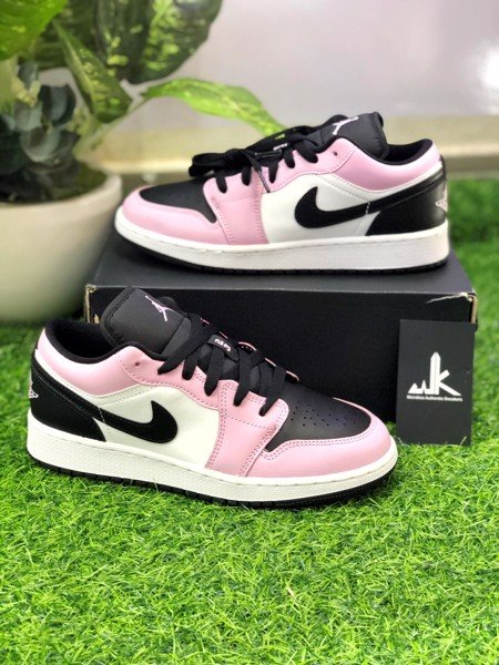 554723-601 Jordan 1 Low GS Light Arctic Pink