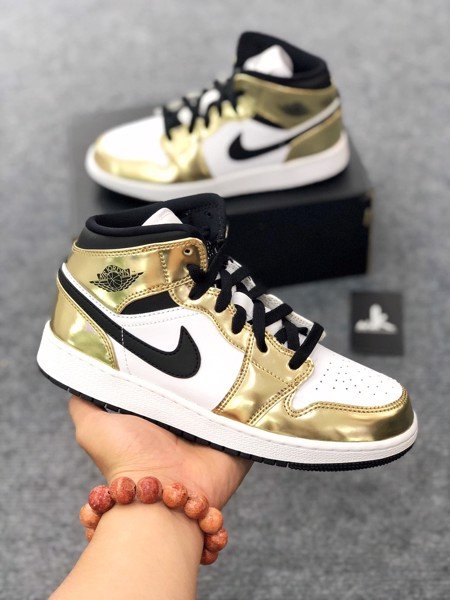 DC1420-700 Jordan 1 Mid Metallic Gold