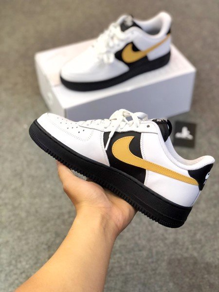 Nike Air Force 1 Black White Yellow
