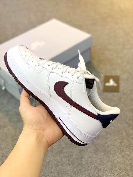 CJ8731-100 Air Force 1 Low Obsidian/White-University Red