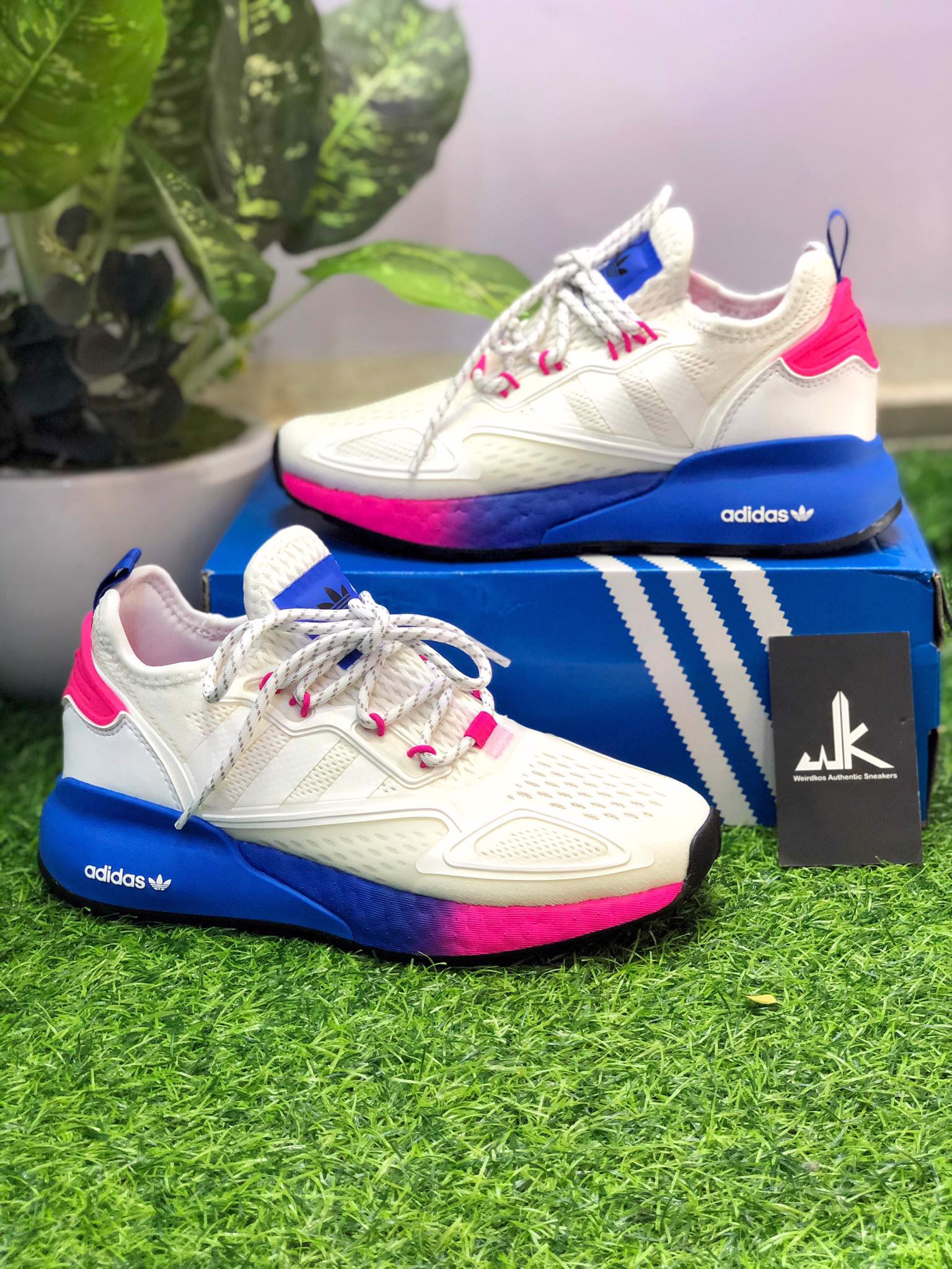 FY0605 - ZX 2K Boost White Pink Blue
