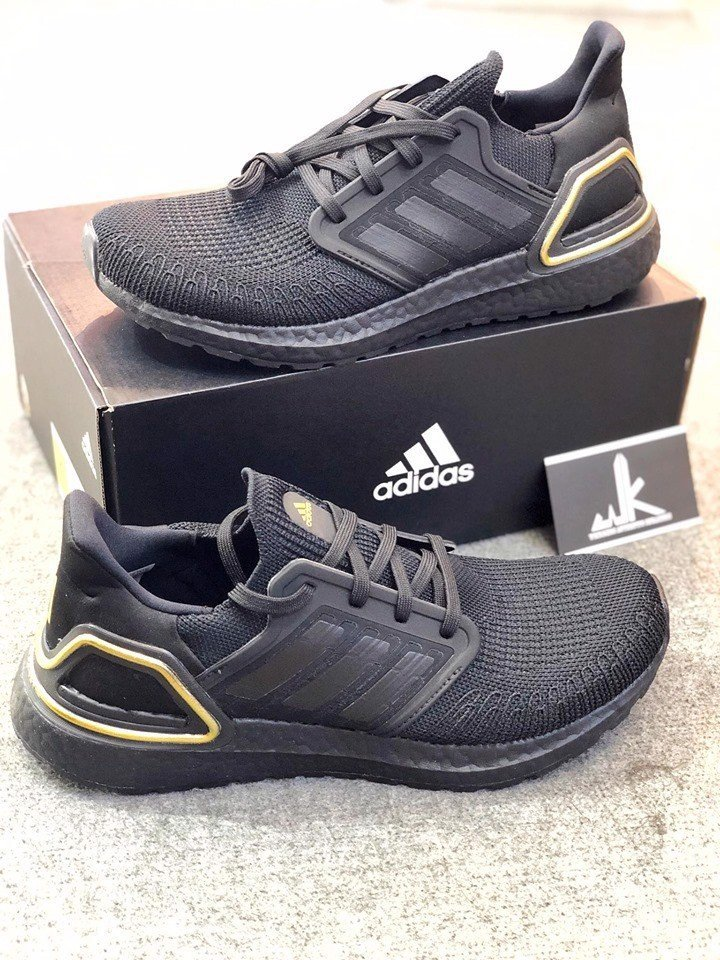 adidas Ultra Boost 2020 Core Black Gold Metallic