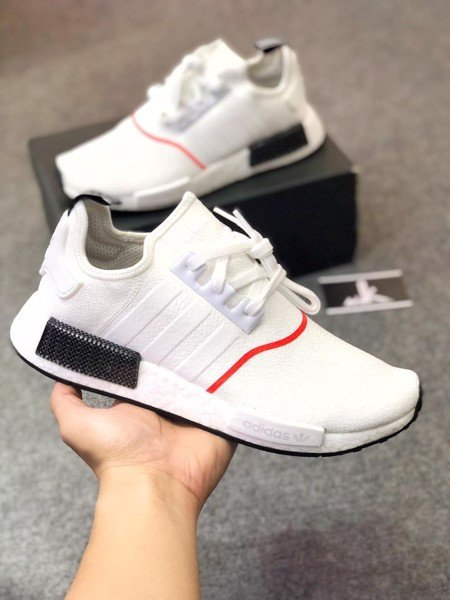 EE5086 NMD R1 White Solar Red