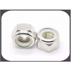 Stainless steel hex nylon lock nut