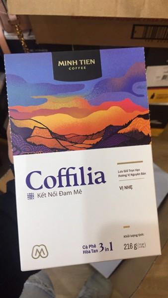 Cafe Hòa Tan Coffilia 3 in 1 216gr
