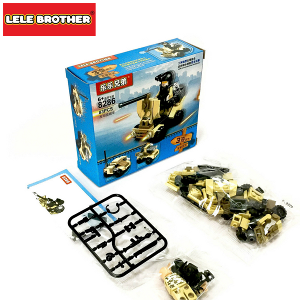 Hộp Bộ Lắp Ráp Chiến Xe Tank Series Military Lele Brother 8301