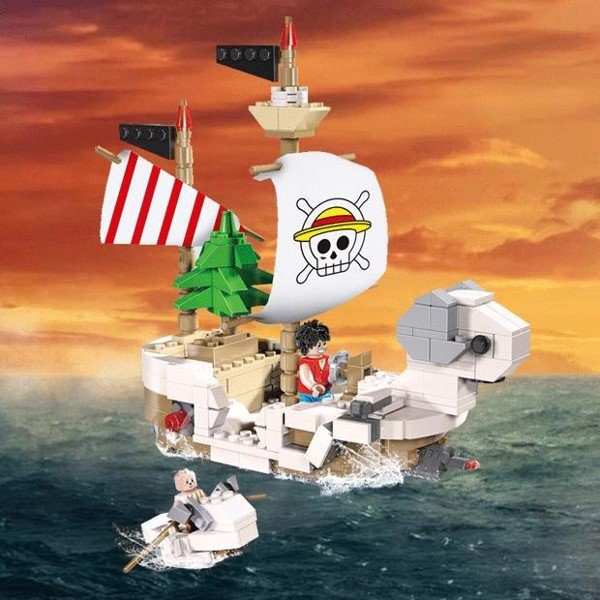 Đồ chơi lắp ráp GOLDEN MERRY - Lele Brother - ONE PIECE PIRATE SHIP - 8502