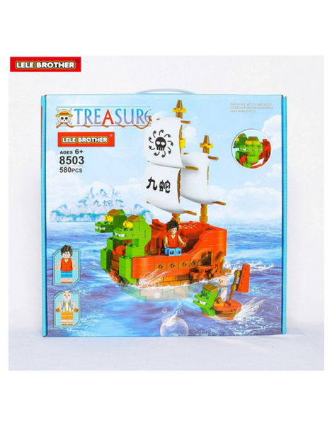 Đồ chơi lắp ráp NINE SNAKE - Lele Brother - ONE PIECE PIRATE SHIP - 8503