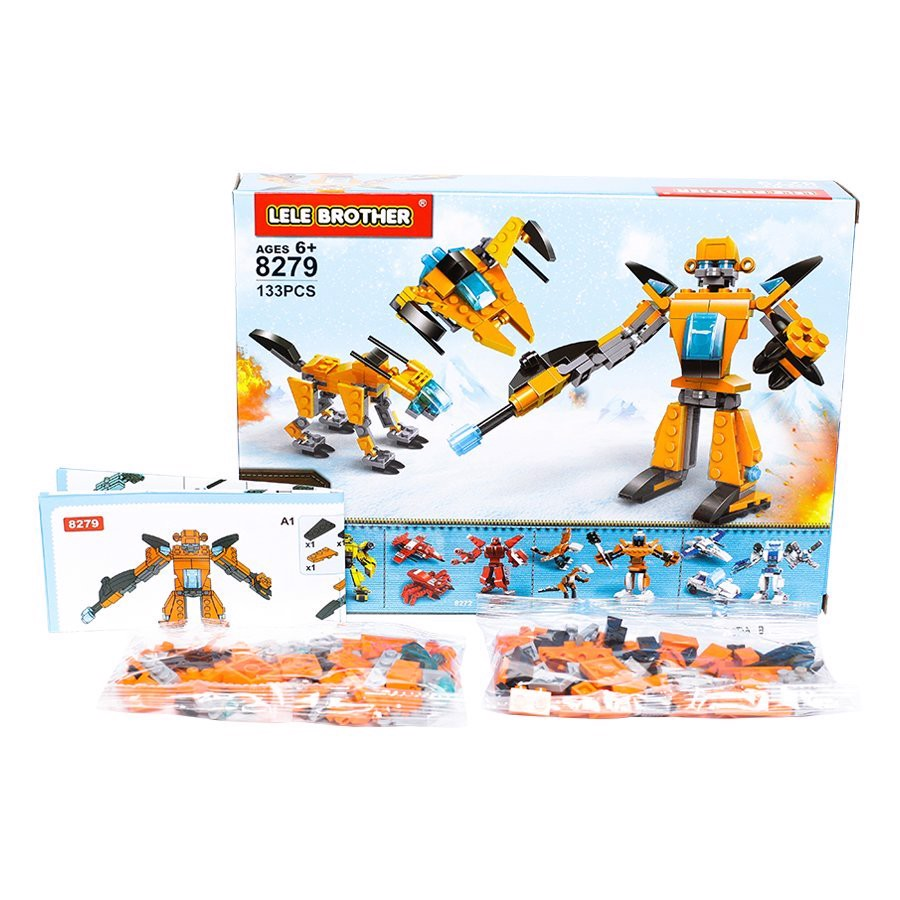 Bộ lắp ráp Sandstorm - Lele Brother - TRANSFORMER FIGHTER - 3in1 - 8279