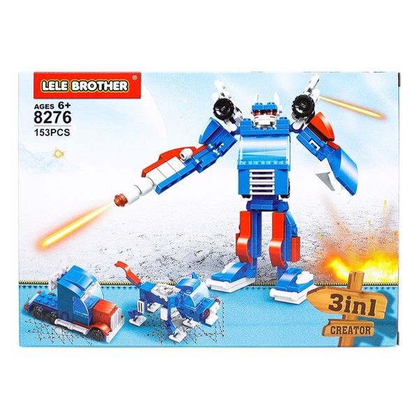 Bộ lắp ráp Optimus Prime Lele Brother - TRANSFORMER FIGHTER - 3in1 - 8276
