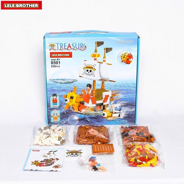 Đồ chơi lắp ráp THOUSAND SUNNY - Lele Brother - ONE PIECE PIRATE SHIP - 8501
