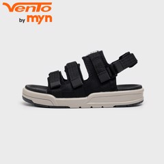 Sandal Unisex 3 quai đế bệt 1001 Black Collection
