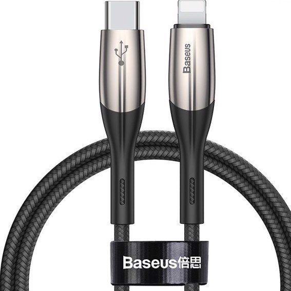 Baseus Cáp sạc nhanh Type C to Lightning Baseus Horizontal Data PD (18W, Power Delivery Fast Charge, C to iPhone Cable)