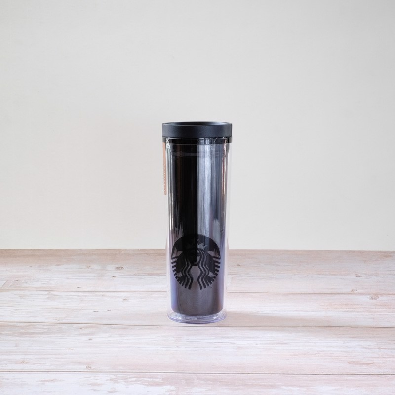 Ly TUMBLER 16OZ BLK CROSBY BADGE