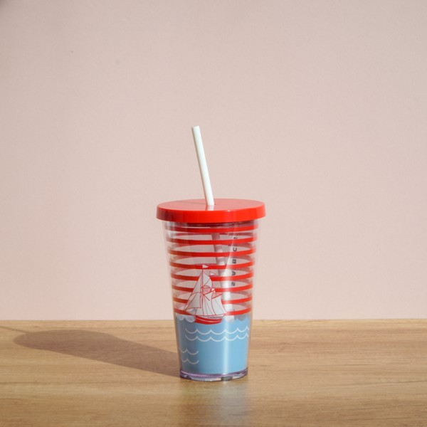 Ly COLD CUP 16OZ SAILBOAT
