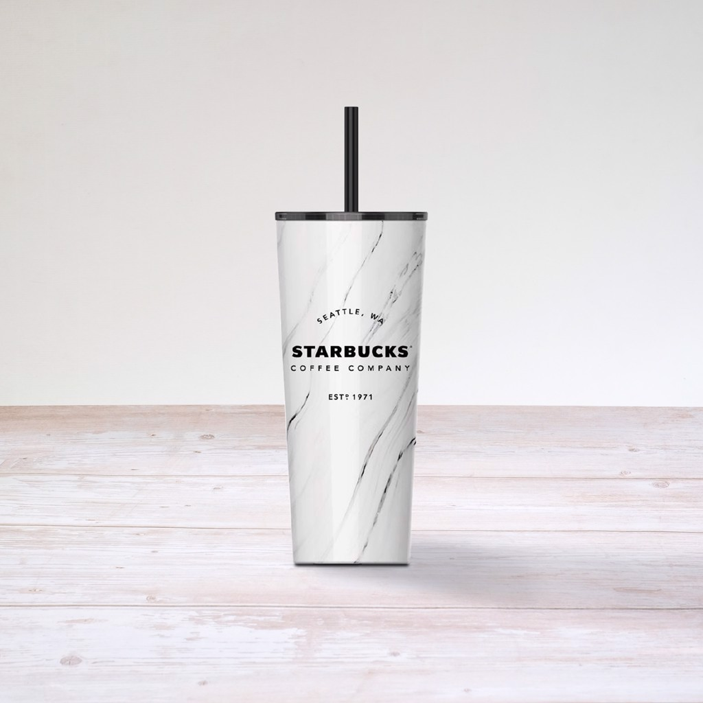 Ly Cold Cup 16OZ Stainless Steel White Marble