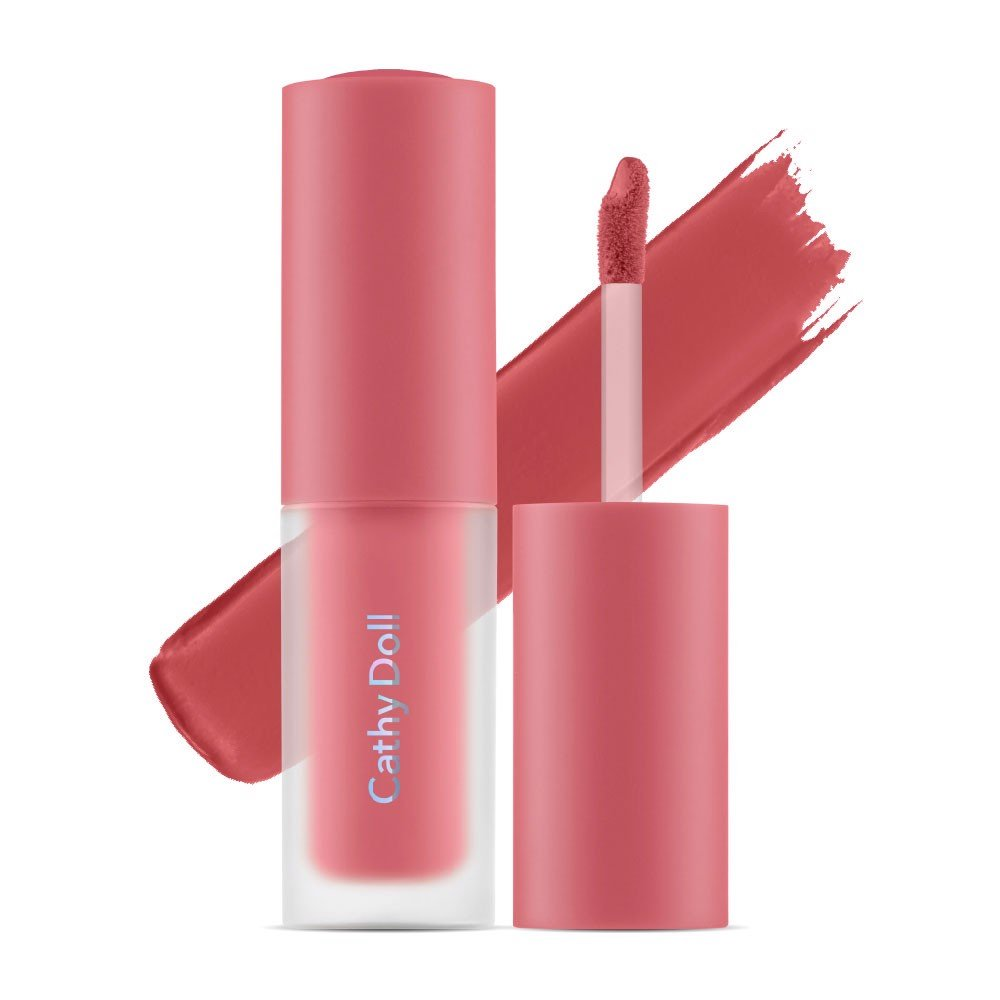 Son kem và má hồng Cathy Doll Lip & Cheek Nude Matte Tint 3.5g #05 Softly Peach