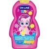 Sữa tắm và gội trẻ em On line Kids Lemonade 250ml-Chanh - Hồng ON LINE KIDS SHAMPOO & BODY WASH 2 IN 1LEMONADE