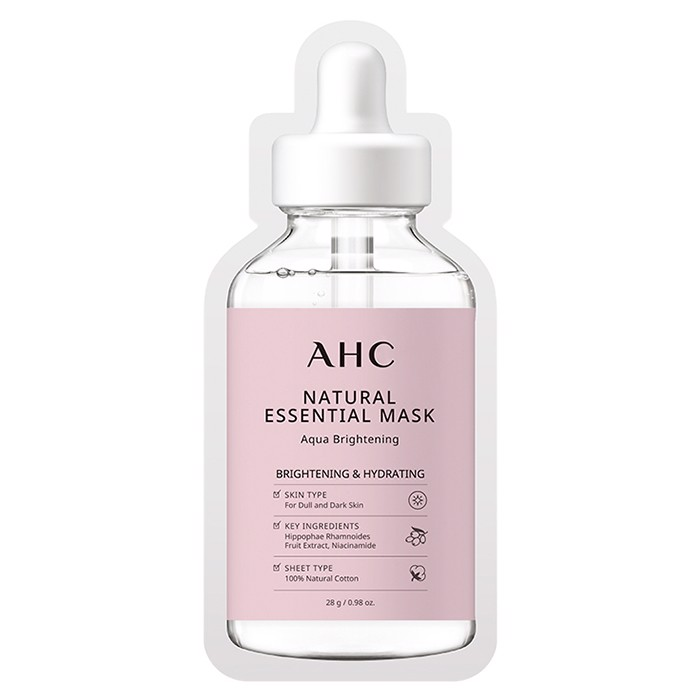 AHC Mặt nạ giấy Natural Essential Mask Aqua Brightening 28g