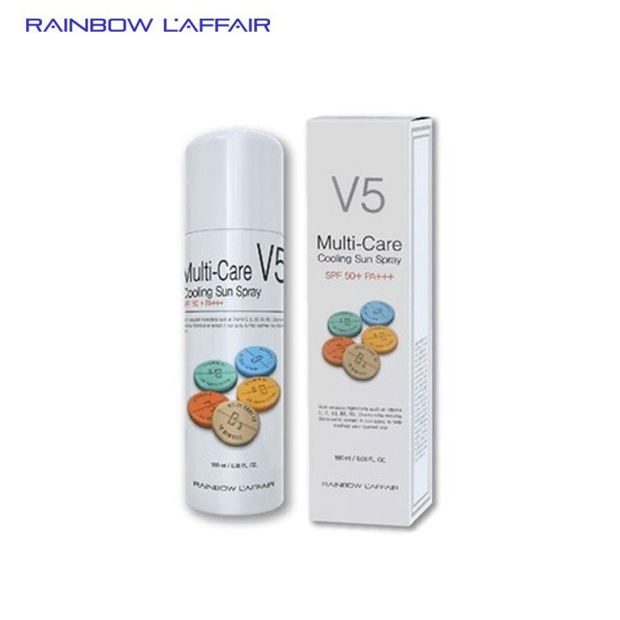 Xịt chống nắng Rainbow L'affair Multi-Care V5 Cooling Sun Spray SPF50+ 180 ml
