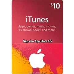 Thẻ iTunes Gift Card 10$ - US (Mã Code)