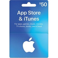 Thẻ iTunes Gift Card 50$ - US (Thẻ Cứng)