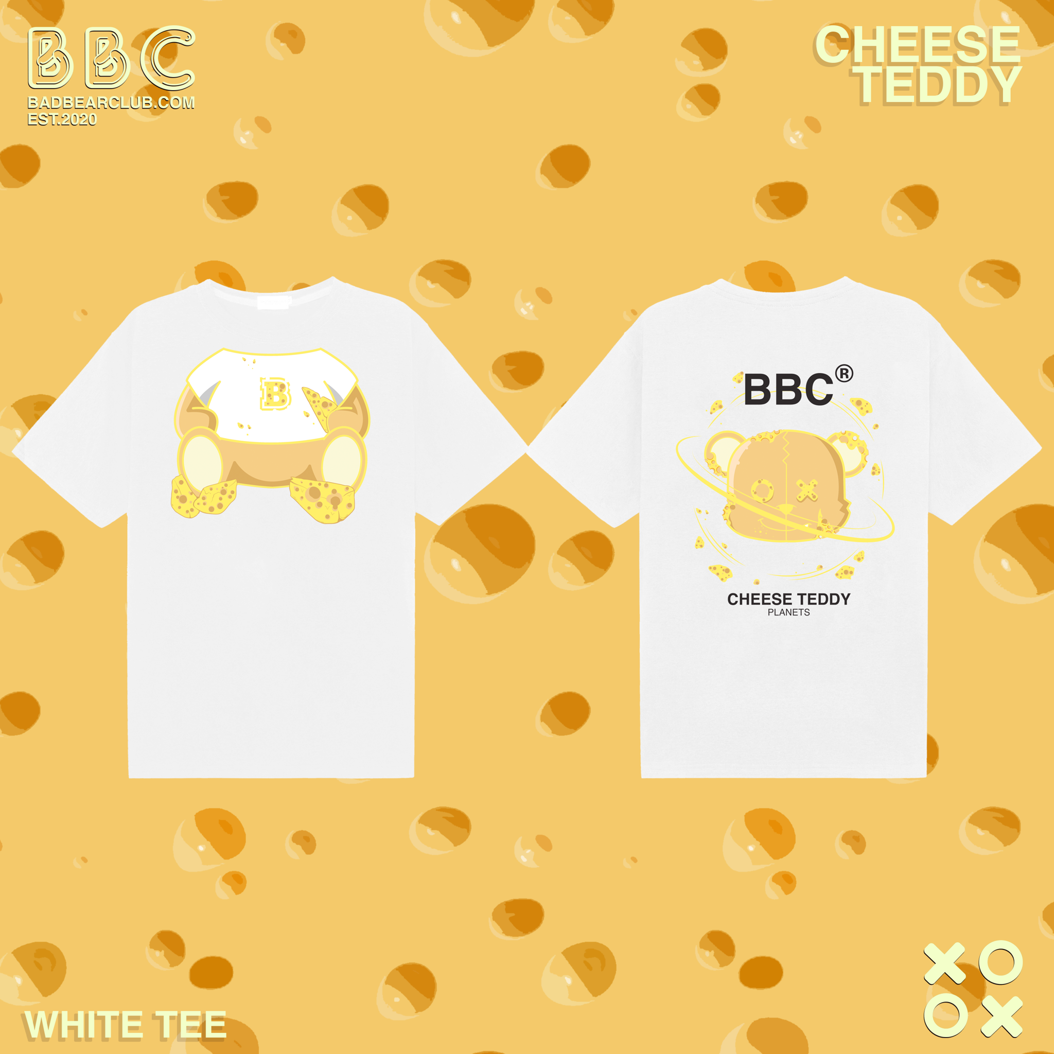 BBC CHEESE TEDDY WHITE TEE