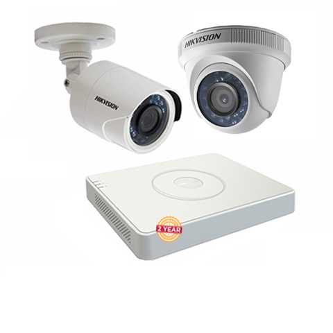 Bộ 02 camera Hikvision 2MP